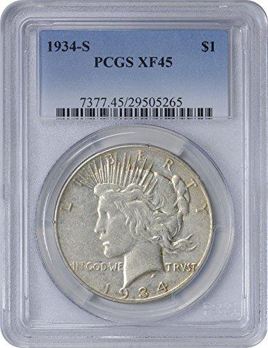 1934 S Peace Dollar XF45 PCGS (Peace Dollar Pcgs)