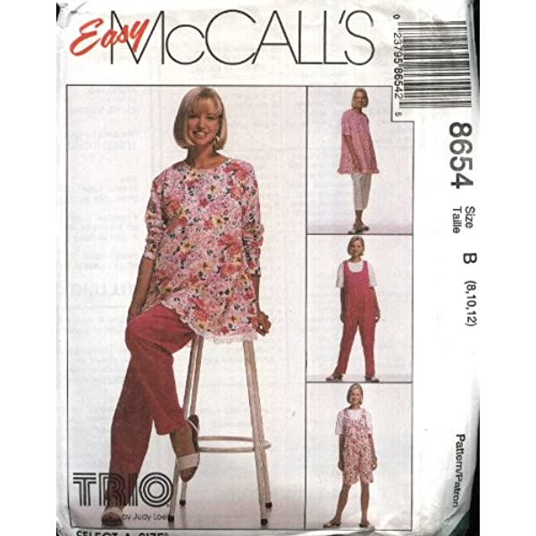 Pull-on Pants and Capri Pants ~ Sizes 8-10-12 McCalls Pattern 8342 ~ Maternity Dresses Top