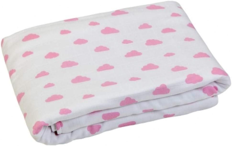 Gloop cuidado del bebé algodón orgánico manta (nubes de color rosa): Amazon.es: Bebé