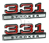 4 cylinder crate engine - 331 Stroker Big Bore Engine Emblems in Red & Chrome - 4