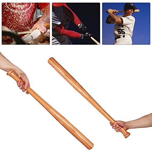 Solid Wooden Baseball Bat Bit Hardwood Bats Outdoor Sports Fitness Equipment by CLKJYF