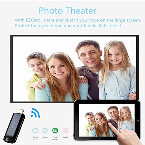 Ezcast Wireless Display Dongle Wifi 2.4G HDMI TV Stick Screen Mirroring Adapter for DLNA Airplay Miracast Support IOS Andorid Windows to TV Monitor Projector Up to 1080P by Yehua (Image #3)