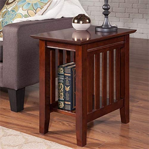 Leo Lacey Chair Side Table in Walnut