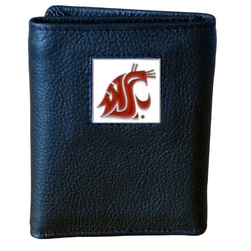 Washington St. Cougars Genuine Leather Tri-fold ()