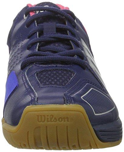 WILSON Unisex-Erwachsene Vertex Navy Wil/Neon Red W/SI Tennisschuhe, Rot (Silver Metall), 39 EU