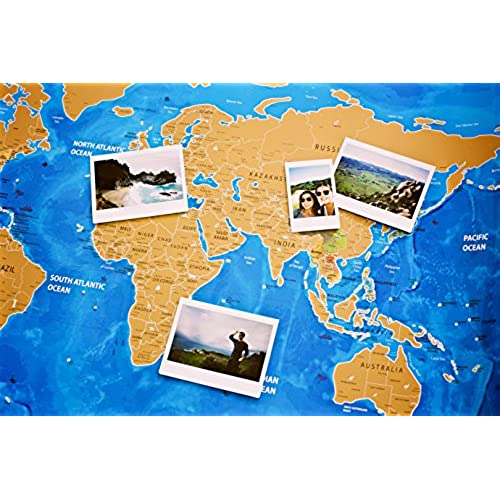High quality nomadik scratch off world map poster large ocean high quality nomadik scratch off world map poster large ocean blue edition artistic gumiabroncs Choice Image