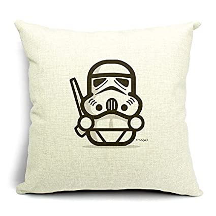Amazon Chicozy Cotton Linen Square Cute Star Wars Characters Simple Cute Cheap Decorative Pillows