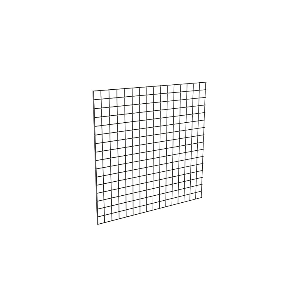 Econoco Grid for Any Retail Display, 4' Width x 4' Height, 3 Grids Per Carton (Black)
