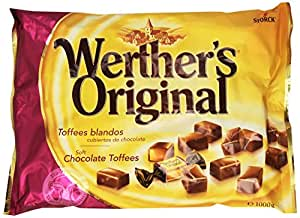 WertherS Original - Toffee blandos cubiertos en chocolate - Caramelos - 1000 g