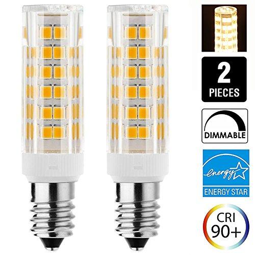 JD E11 120V 75W LED Replacement Dimmable E11 LED Light Bulb 50W Halogen Bulbs Equivalent Mini Candelabra E11 Base T3 T4 LED Bulb for Ceiling Fan, Indoor Decorative Lighting, Pack of 2 (Warm (Decorative Halogen Light Bulb)