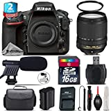 Holiday Saving Bundle for D810 DSLR Camera + 18-140mm VR Lens + 2yr Extended Warranty + 16GB Class 10 + Case + UV Filter + Cleaning Kit + Cleaning Brush + Card Reader - International Version