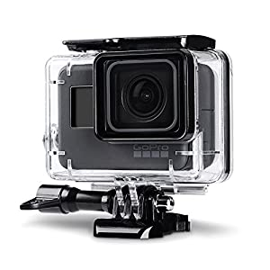 Trehapuva Underwater Housing Case for GoPro Hero 6/5 Black Waterproof Case Diving Protective Housing Shell Replacement Cover with Bracket Camera Accessories, 45M Under Water Use