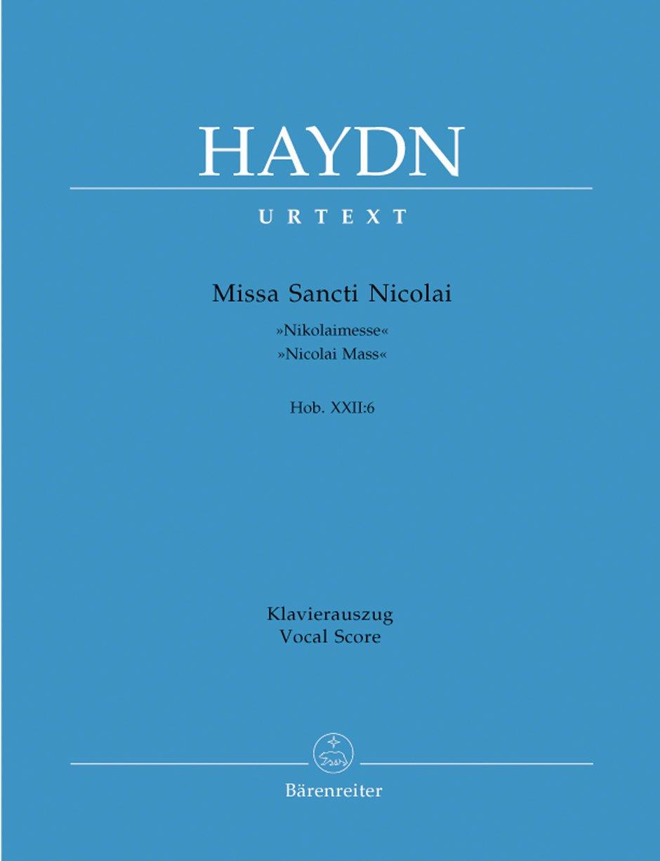 Missa Sancti Nicolai G Dur Hob 22 6  Nicolaimesse . Klavierauszug