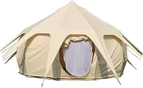Dream House - Tienda de campaña Impermeable para Cuatro Estaciones, Ideal para Acampada y Invierno, de algodón, con mosquitera, Puerta y Ventana con Rejilla de ventilación para Estufa: Amazon.es: Deportes y aire