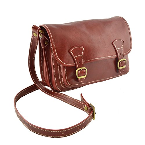 Borsa A Tracolla In Pelle Colore Moro - Pelletteria Toscana Made In Italy - Borsa Donna