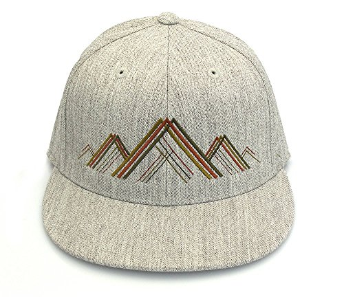 Men's Hat - Mountain Range Illustration - Men's Fitted & Snapback Options Available