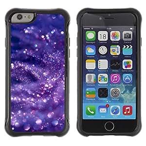 Híbridos estuche rígido plástico de protección con soporte para el Apple iPhone 6 (4.7) - glitter snow bubbles purple