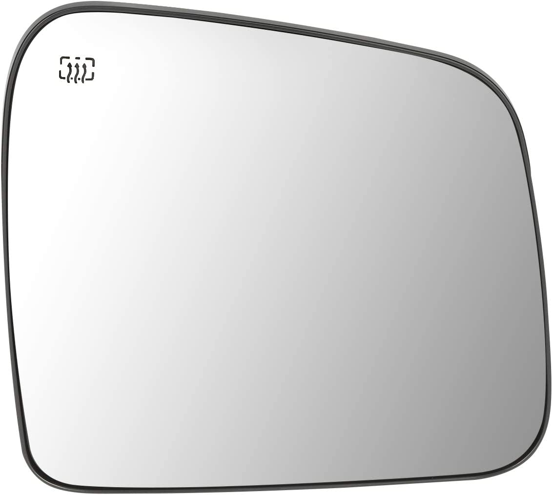 68082636AB OE Style Passenger//Right Side Mirror Glass w//Heated for Dodge Durango Jeep Grand Cherokee 11-19