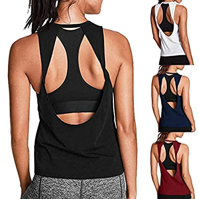 Workout Tops for Women Loose Fit, Activewear Sleeveless Gym Yoga Tops Muscle Shirts Racerback Crop Tee Tank Top at  Women's Clothing store