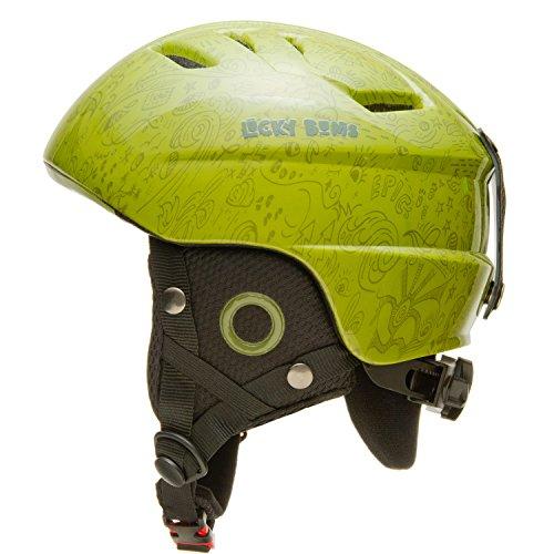 Lucky Bums Kid's Alpine Series Helmet, Metallic Black - Medium/Large