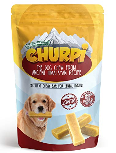 - Churpi - Himalayan Yak Dog Chew I Natural, Long Lasting & Entertaining Hard Chewy Bar I GMO, Grain & Gluten Free I Hypoallergenic, Odorless & Protein Rich Treat (5 Med. Size Bars Min. Wt 1 LB)