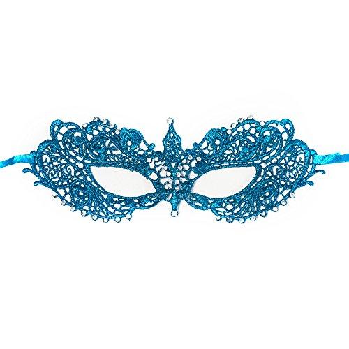 (BeyondMasquerade Anastasia Inspired Masquerade Mask Lace RHINESTONES (Dark)