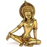 Redbag Sitting God Indra Dev Brass Statue 1959