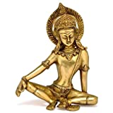 Gangesindia Sitting God Indra Dev Brass Statue