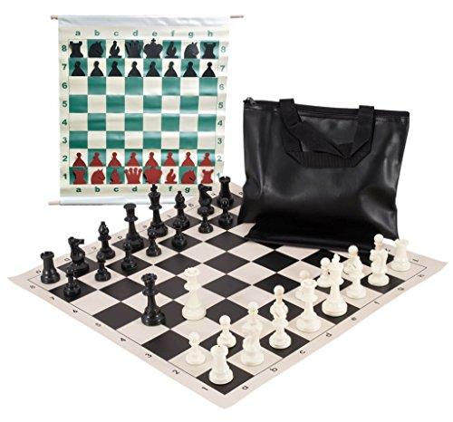 The House of Staunton Basic Scholastic Chess Club Starter Kit - For 10 Members - Black