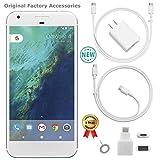 Google Pixel XL 1st Gen G-2PW2100 128 SIL 128GB Smartphone (Unlocked) GSM + CDMA / 4G LTE Capable + 1 Year Warranty Bundle - US Retail Version (Very Silver, 128GB 5.5' XL)