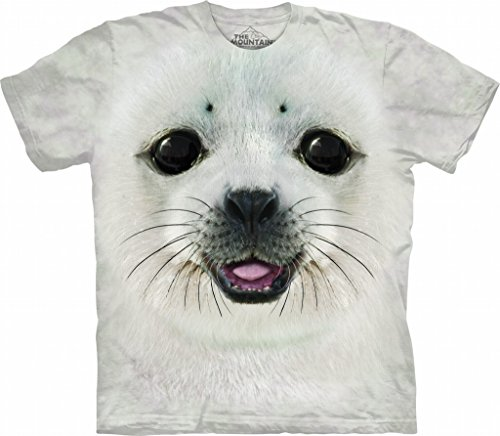 - The Mountain Kids Big Face Baby Seal T-Shirt, X-Large, Gray