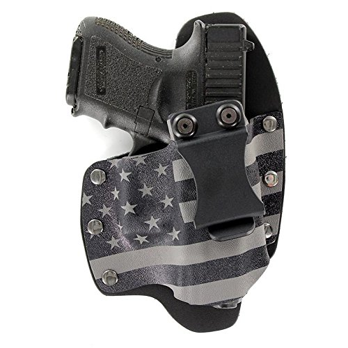 Infused Kydex USA: Gunmetal Gray USA IWB Hybrid Concealed Carry Holsters for More Than 200 Different Handguns. Left & Right Versions Available.