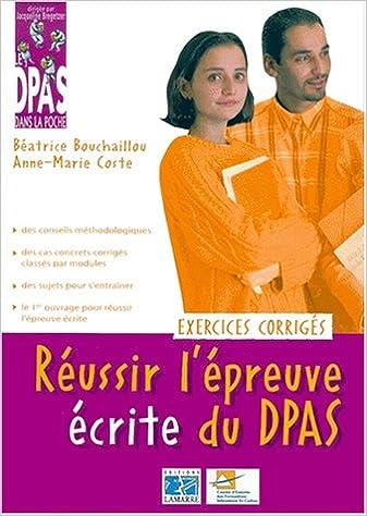 Lire Réussir l'épreuve écrite du DPAS pdf epub