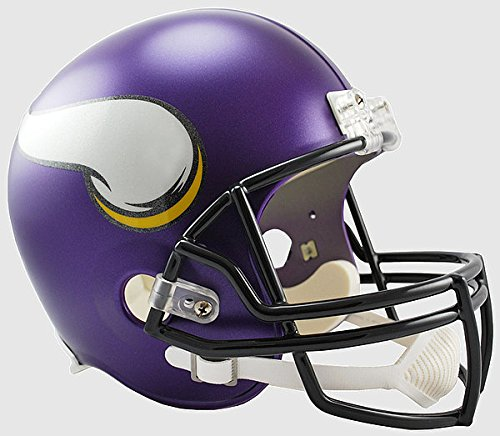 Riddell NFL Minnesota Vikings Satin Purple Replica Vsr4 Full Size Football Helmet