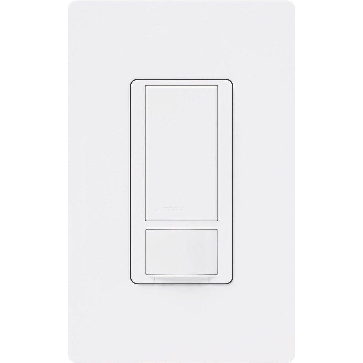 Lutron Maestro Sensor switch with Wallplate, 2A, No Neutral Required, Single-Pole, MS-OPS2HW-WH, White
