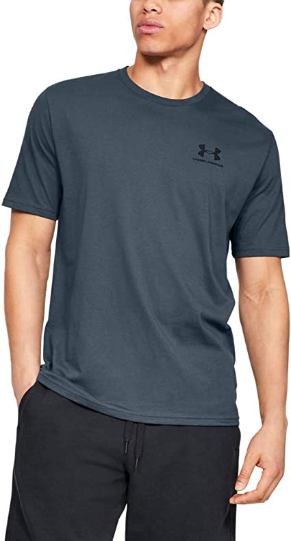 Men/'s Under Armour UA Sportstyle Left Chest Short Sleeve T Shirt Grey 1326799