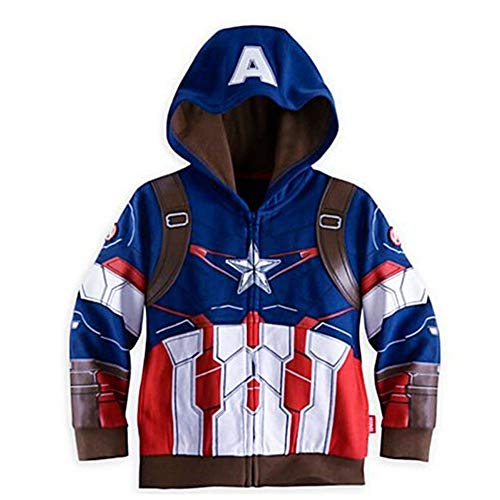 Hoodies Superhero Iron Man Hulk Captain America Spiderman Sweatshirt for Boys