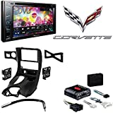 Pioneer AVH-290BT Multimedia DVD Receiver with 6.2 WVGA Display and Built-in Bluetooth Metra DP-3021B Black Double DIN Stereo Dash Kit for 1997-2004 Chevrolet Corvette