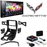 Pioneer AVH-290BT Multimedia DVD Receiver with 6.2'' WVGA Display and Built-in Bluetooth Metra DP-3021B Black Double DIN Stereo Dash Kit for 1997-2004 Chevrolet Corvette