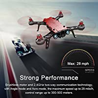 XFUNY Bugs 8 Pro RC Quadcopter 5.8G 720P Camera Live Video 2.4GHz High Speed RC Racing Helicopter 6-Axis Gyro Aircraft B8pro FPV Drone with RX Display, 2 Battery (B8 Pro) from XFUNY