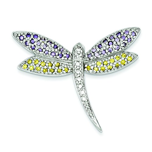 ow & Clear Cz Dragonfly Pin ()