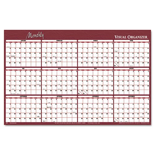 Yearly Wall Planner, Erasable, 2-Sided, 24