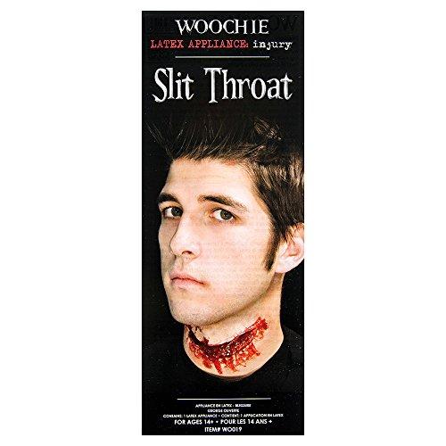 Woochie by Cinema Secrets Slit Throat Latex Appliance, Multi, One Size