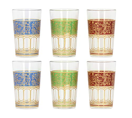 Turkish Coffee Water Glasses - 6 Glasses - 3 Colors by Pasabahce