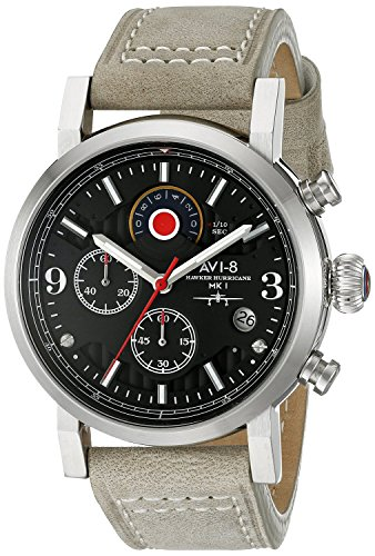AVI-8 Mens Hawker Hurricane Watch - Black/Green
