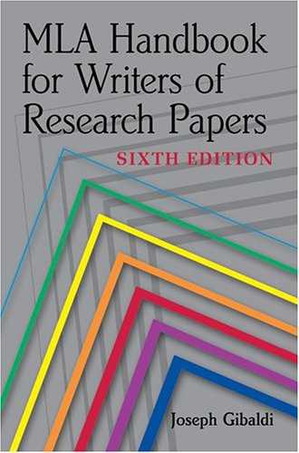 mla handbook writers research papers seventh edition