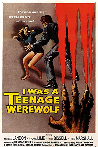American Gift Services - Vintage Michael Landon Movie Poster I was A Teenage Werewolf - 24x36 ()