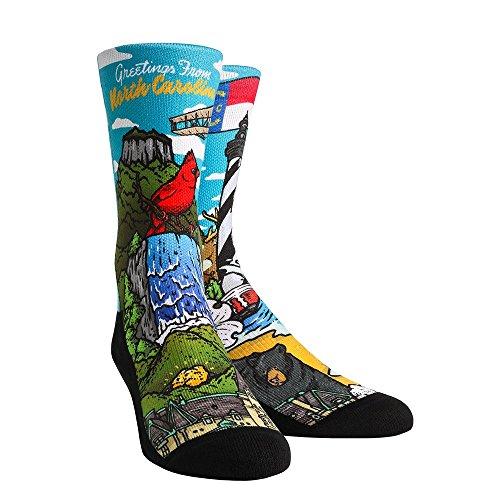 City Of North Little Rock (Rock 'Em North Carolina City Series Socks (L/XL, North Carolina Landmark)