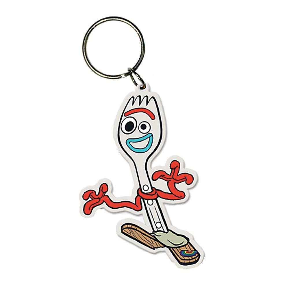 Genuine Disney Pixar Toy Story 4 Forky Rubber Keyring Key Fob
