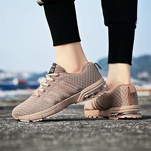 Pour Marron Fitness Sneaker Jogging Sport Chaussures Athlétique Entraînement Shoes De Running Basket Course Gym Trail Compétition Homme Respirantes Plein Femme Air Rwvp0qS